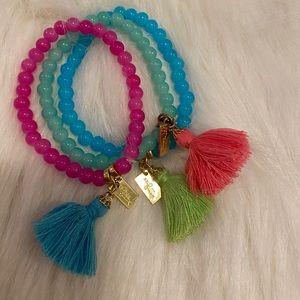 Set of 3 Lilly Pulitzer Beaded Bracelets